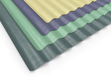 Corrugated sheets of plastic Royalty Free Stock Photos