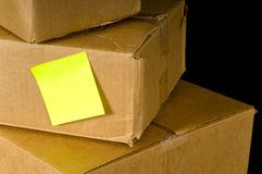 Corrugated Shipping Boxes Royalty Free Stock Images