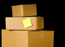 Corrugated Shipping Boxes Stock Photos
