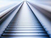 Corrugated steel. And tubes - nice background Royalty Free Stock Photo
