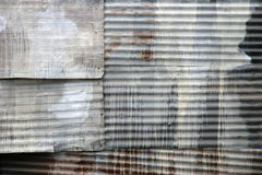 Corrugated Steel Abstract Royalty Free Stock Photography