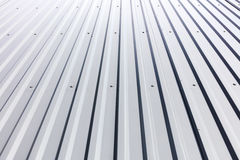 Corrugated steel cladding with rivets on industrial building Royalty Free Stock Photos