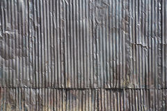 Corrugated Steel Siding on Building Stock Image