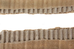 Corrugated texture paper Stock Photography