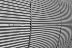 Corrugated texture. Some corrugated metal siding on a piece of old lumber mill equipment Royalty Free Stock Photo