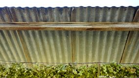 Corrugated Tin Roof. Stock Photo
