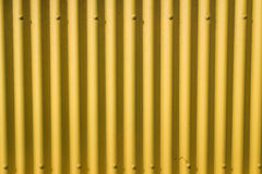 Corrugated yellow metal Royalty Free Stock Photo