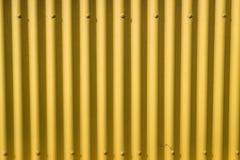 Corrugated yellow metal Royalty Free Stock Photo