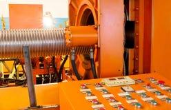 Corrugation forming mashine Royalty Free Stock Images