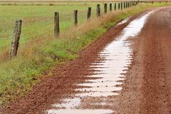 Corrugations After The Rain Royalty Free Stock Photo