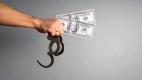 Corrupção em justiça Imagens de Stock Royalty Free