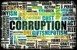 Corrupción Imagen de archivo