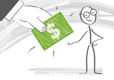 corrupción stock de ilustración