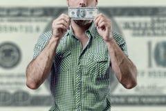 Corrupción del hombre Imágenes de archivo libres de regalías