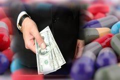Corrupción en farmacología Imágenes de archivo libres de regalías