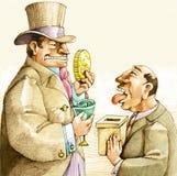 Corrupción política stock de ilustración