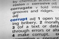 corrupt определение стоковое изображение