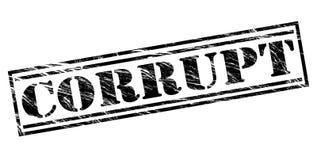 Corrupt black stamp Stock Images