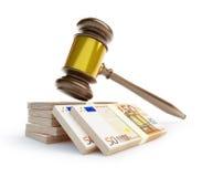 Corrupt gavel суда Стоковые Фото