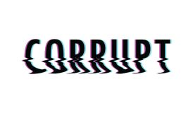 Corrupt glitch text Royalty Free Stock Image