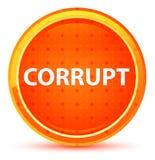 Corrupt Natural Orange Round Button stock illustration