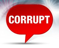 Corrupt Red Bubble Background stock illustration