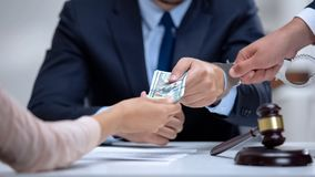 Free Corrupt Judge Handcuffed When Taking Dollar Bribe In Court, Anti-corruption Law Royalty Free Stock Photos - 161861368