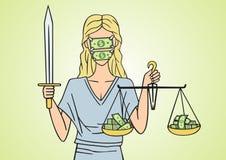 Corrupt justice. Stock Image