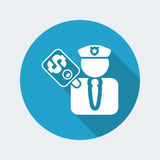 Corrupt policeman Stock Photography