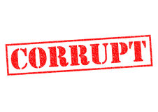CORRUPT. Red Rubber Stamp over a white background Royalty Free Stock Images