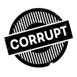 Corrupt rubber stamp Royalty Free Stock Images