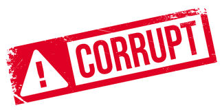 Corrupt rubber stamp Stock Images