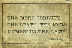 Corrupt state Tacitus stock photo