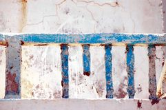 A corrupted balcony. With blue colours Stock Photos