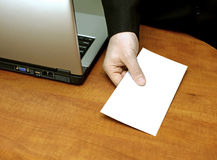 Corrupted businessman. Holding an envelope royalty free stock photos
