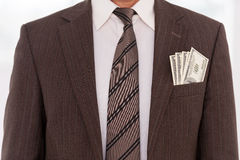Corrupted businessman. Stock Images