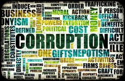 Corruptie royalty-vrije illustratie