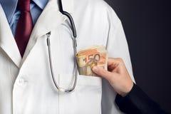 Corruptie in de gezondheidszorgindustrie stock fotografie