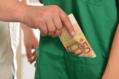 Corruptie in de gezondheidszorgindustrie royalty-vrije stock foto's