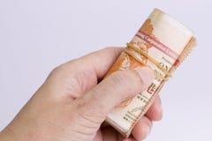Corruptie die - een steekpenning aanbieden royalty-vrije stock foto's