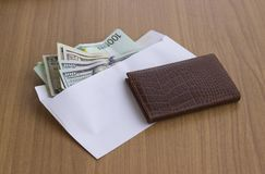 Corruption and bribery stock image