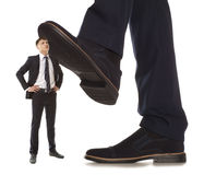 Corruption.  Business conflict Royalty Free Stock Image