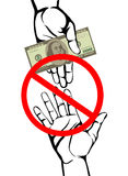 Corruption. Hand Keeps money dollars. Vector. Poster Royalty Free Stock Photo
