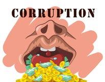 Corruption. Illustration corruption on white background Stock Photography