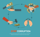 Corruption infographic banner set with corrupt Stock Photos