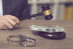 Corruption in justice Stock Image