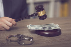 Corruption in justice Royalty Free Stock Image