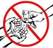 corruption La main garde des dollars d'argent Vecteur Affiche sur le petit morceau Photos stock