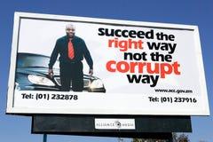 Corruption maakte wijd campagne, Zambia bekend Royalty-vrije Stock Foto's