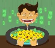 Corruption and man. Illustration corruption  man and money Stock Image